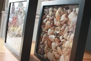 Decoración para el verano: Cuadros con conchas