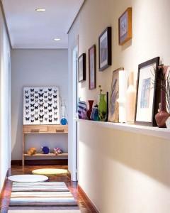decoración de pasillo en casas pequeñas