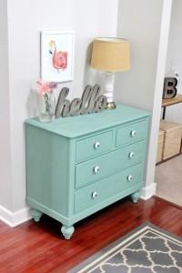 Cómoda azul - decoración vintage