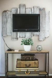 tele y decoración vintage